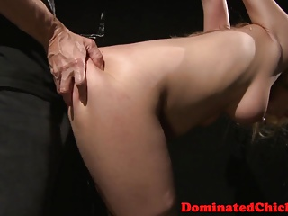 Chubby submissive punished with roughsex