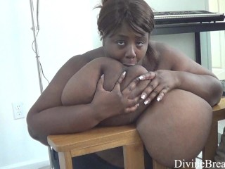 Big Black Boobs BBW Swinging and Bouncing Her Gigantomastia Large Breasts