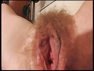 Hairy amateur wife spread legs showing pussy