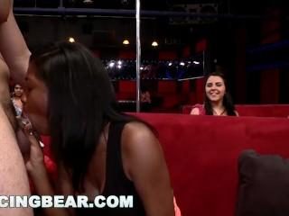 DANCING BEAR - CFNM Whores Sucking Male Stripper Dick At The Club (db11453)