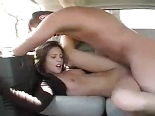 Teen rides big dick in car