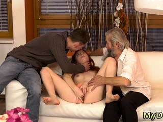 Teen mound Unexpected practice with an older gentleman