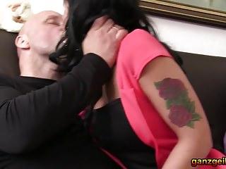 White man fucks hot ebony chick at German swinger party