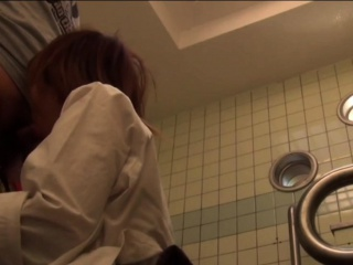Japanese teen blows cock