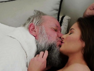 Teen tongued by grandpa