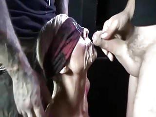 Great bukkake with cum swallow