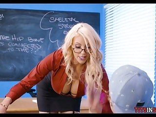 Massive Tit Blonde Teacher MILF