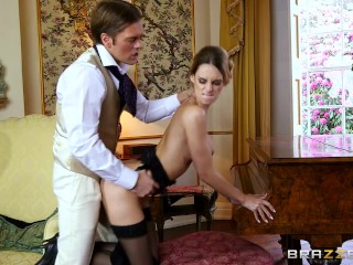 British babe Erica Fontes gets pounded - Brazzers