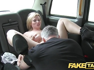 Fake Taxi huge natural tits on blonde model