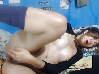 Latina With Shaved Pussy Solo
