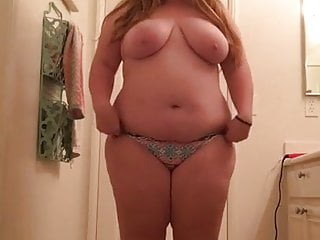 My chubby niece showing her tits and ass