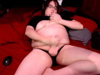 Eating Cum From My Shecock.